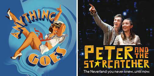 Anything Goes and Peter and The Starcatcher